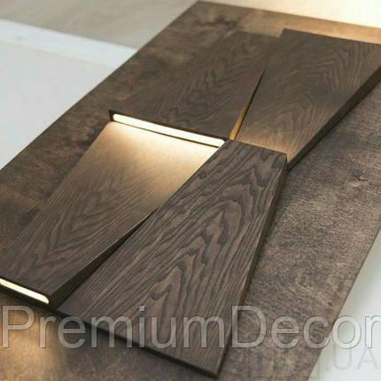 Деревянные 3Д панели стеновые КОЛОРАДО мозаика с дерева дуб, ясень, фото 2