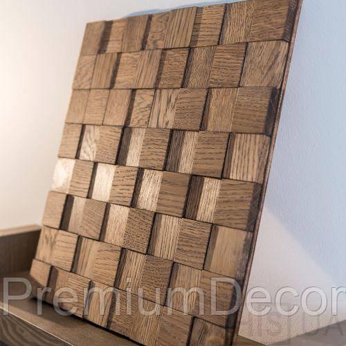 Деревянные 3Д панели стеновые НЕБРАСКА мозаика с дерева дуб, ясень
