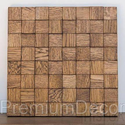 Деревянные 3Д панели стеновые НЕБРАСКА мозаика с дерева дуб, ясень, фото 2