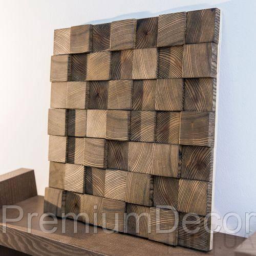 Деревянные 3Д панели стеновые НЕВАДА мозаика с дерева дуб, ясень