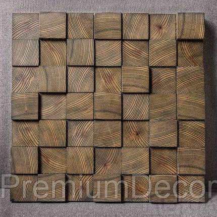 Деревянные 3Д панели стеновые НЕВАДА мозаика с дерева дуб, ясень, фото 2
