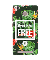 Силиконовый чехол Zorrov для Xiaomi Redmi 3S - Born to be free (0139-165)
