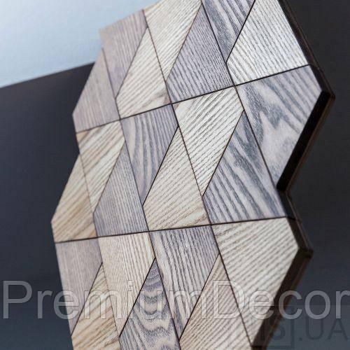 Деревянные 3Д панели стеновые ОРЕГОН мозаика с дерева дуб, ясень