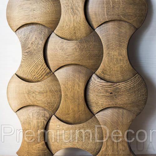 Деревянные 3Д панели стеновые ОРЛАНДО мозаика с дерева дуб, ясень
