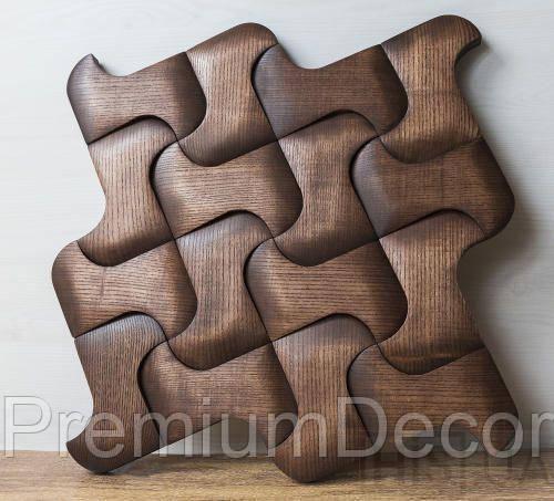 Деревянные 3Д панели стеновые ЧИКАГО мозаика с дерева дуб, ясень