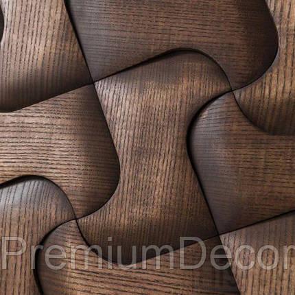 Деревянные 3Д панели стеновые ЧИКАГО мозаика с дерева дуб, ясень, фото 2