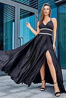 ✔️ Вечернее платье в пол 40-46 размера черное, фото 1