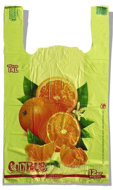 """Пакет-майка """"Citrus"""" Золотое Сечение салатовый (28×45) 250 шт"""