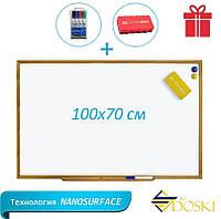 Доска магнитно-маркерная в деревянном профиле 100x70 см