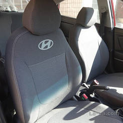 Чехлы на Hyundai Accent RB (раздельный) (2010>) (Nika) на сидения