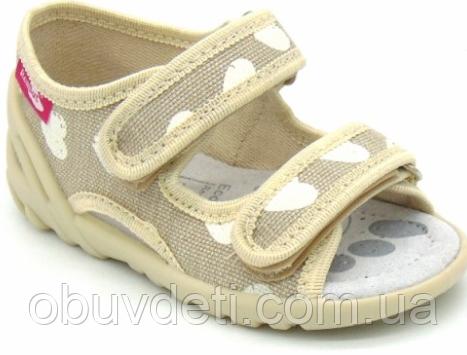 Текстильные босоножки-тапочки для девочек   Renbut  р 23-15 см