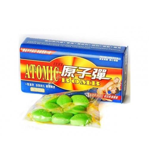 Таблетки для потенции Атомная бомба Atomic Bomb 10 таблеток натуральный возбудитель, фото 1