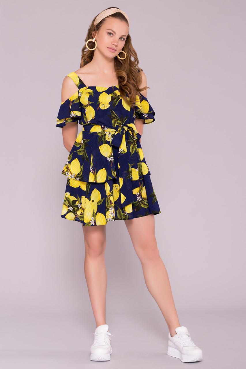 Летнее шифоновое платье Маори-4
