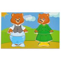Развивающая игрушка Мир деревянных игрушек Два медведя (Д182)