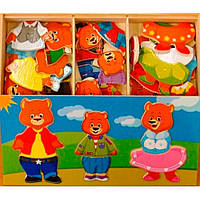 Развивающая игрушка Мир деревянных игрушек Три медведя (Д164)