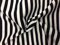 Ангора Евро плотная Полоска Черно-белая (1см), фото 1