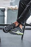 Чоловічі кросівки Nike Air Max 97, Black Green Grey, фото 4