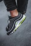 Чоловічі кросівки Nike Air Max 97, Black Green Grey, фото 5