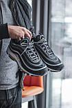Чоловічі кросівки Nike Air Max 97, Black Green Grey, фото 7