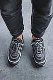 Чоловічі кросівки Nike Air Max 97, Black Green Grey, фото 9