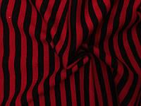 Ангора Евро плотная Полоска Красно-черная (1см)