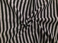 Ангора Евро плотная Полоска Светло серо-черная (1см), фото 1