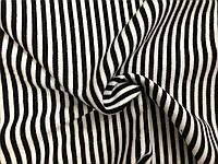 Ангора Евро плотная Полоска Черно-белая (0,5см), фото 1
