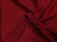 Ангора Евро плотная Полоска Черно-красная мелкая , фото 1