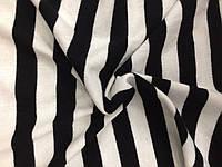 Ангора Евро плотная Полоска Черно-белая (2см), фото 1