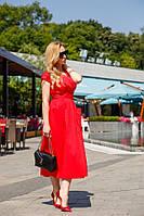 Женское платье на запах Поликоттон Размер 42 44 46 48 50 52 В наличии 2 цвета, фото 1