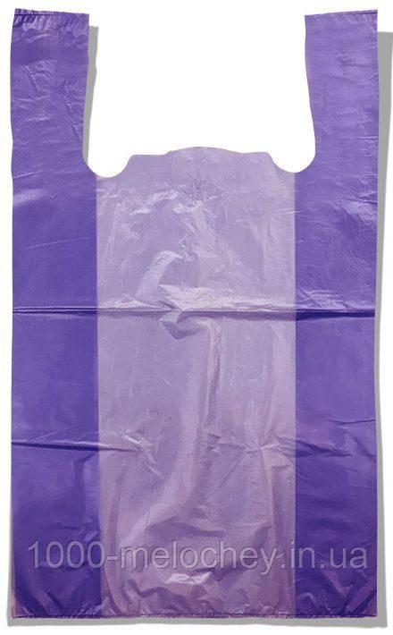 Пакет-майка без малюнка Золотий Перетин бузковий (28×45) 250 шт