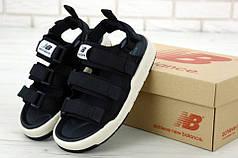 Мужские сандали New Balance Black/White. ТОП Реплика ААА класса.