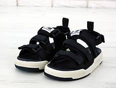 Мужские сандали New Balance Black/White. ТОП Реплика ААА класса., фото 3