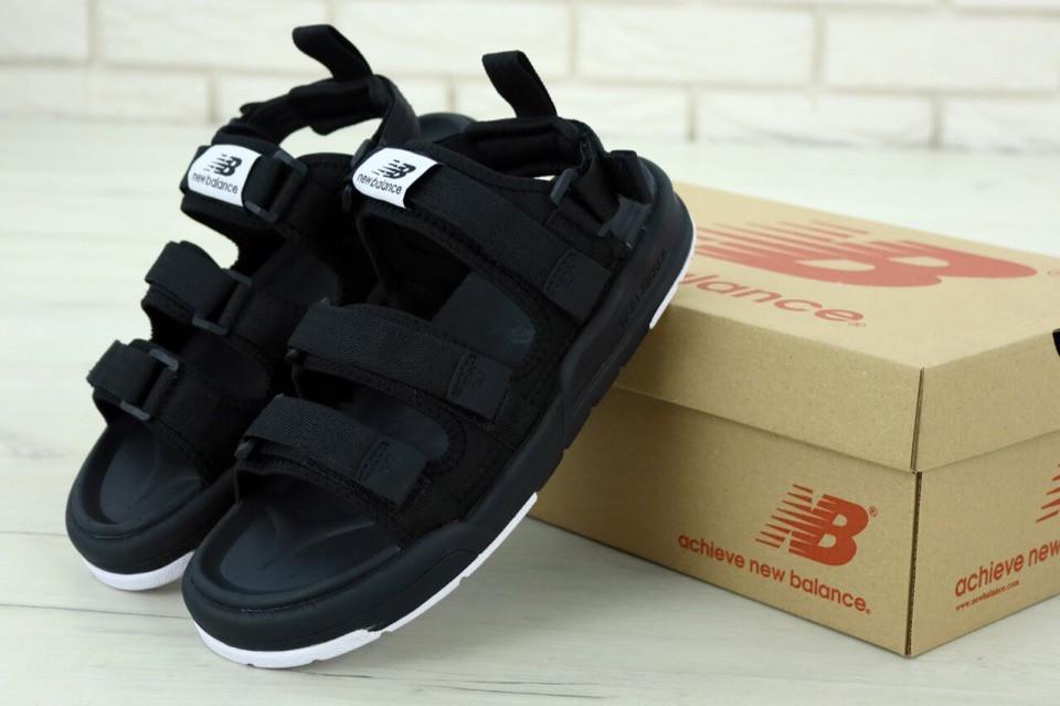 Мужские сандали New Balance Black. ТОП Реплика ААА класса.