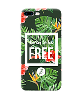 Силиконовый чехол Zorrov для Apple Iphone 7 Plus - Born to be free (0139-183)