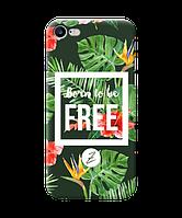 Силиконовый чехол Zorrov для Apple Iphone 7 - Born to be free (0139-160)