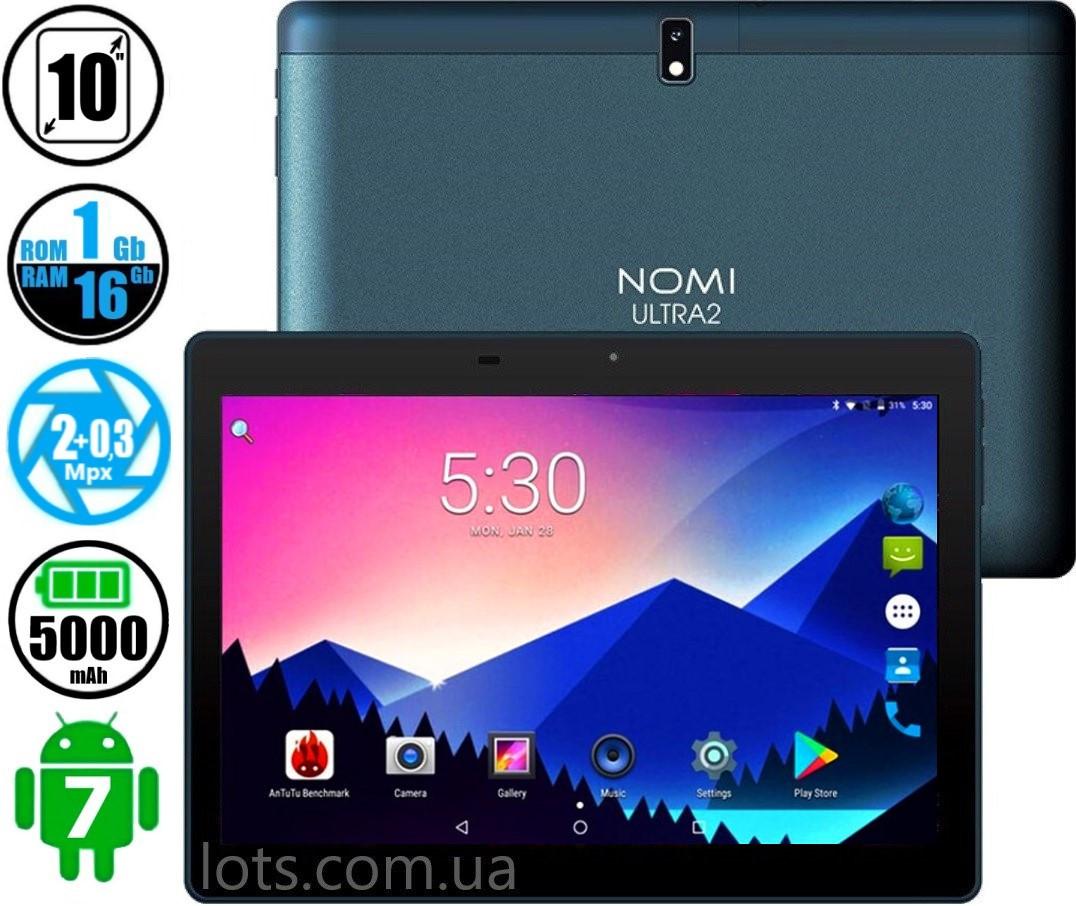 Планшет Телефон Nomi C101010 Ultra 2 16Gb Blue 2-Sim
