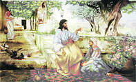Схема для вышивки бисером «Христос у Марфы и Марии »