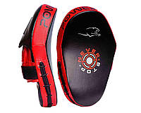 Лапы боксерские PowerPlay 3051 Чорно-Красные PU [пара] 29*19*5см