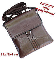 Чоловіча фірмова чоловіча шкіряна сумка барсетка через плече REFORM, фото 1