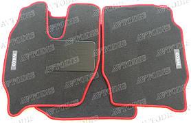 Iveco Stralis 2007- узкая кабина ворсовые коврики (серый-красный) ЛЮКС