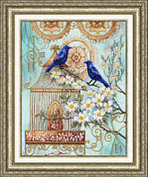 Набор для вышивки Золотое Руно РТ-027 Синие птицы счастья