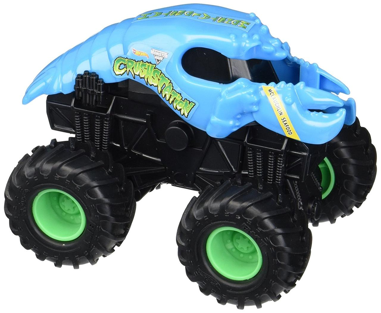 Hot Wheels Monster Jam Внедорожник краб омар инерционный 1:43 Scale Jam Rev Tredz Crushstation Vehicle