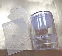 Прозрачный силиконовый штамп для стемпинга Born Pretty