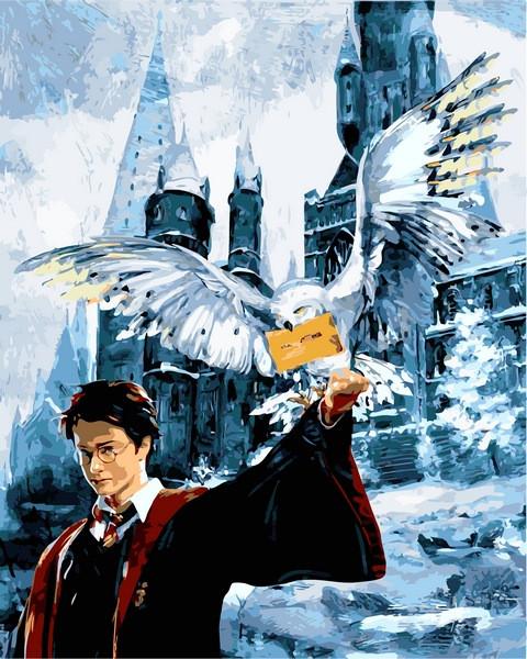 Картина по номерам Гарри Поттер Письмо из Хогвартса VP1118 Babylon Turbo 40 х 50 см