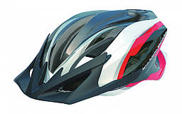 Шлем Spelli SBH-4000, черно-бело-красный