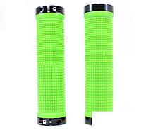 Грипсы на руль SPELLI SBG-660-Lock, зелено черные