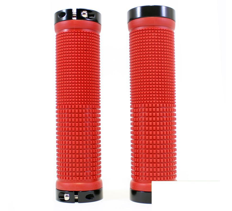 Грипсы на руль SPELLI SBG-660-Lock, красно черные