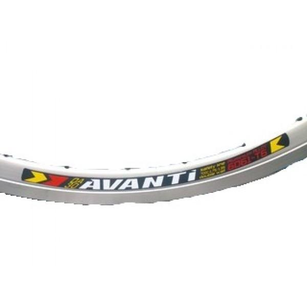 """Обод Avanti 28"""", двойной, алюминиевый, серый"""