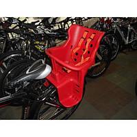 Детское велокресло на багажник, красное